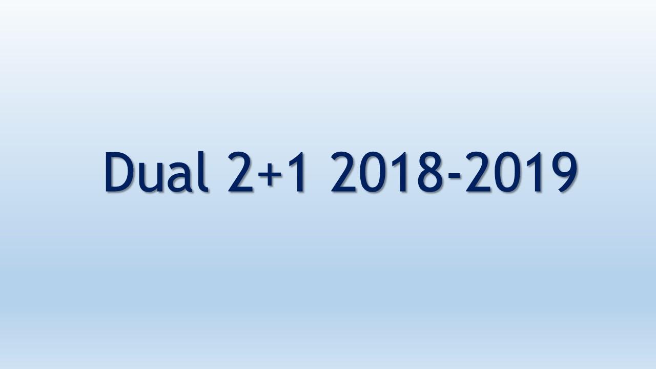 Dual 2+1 2018-2019