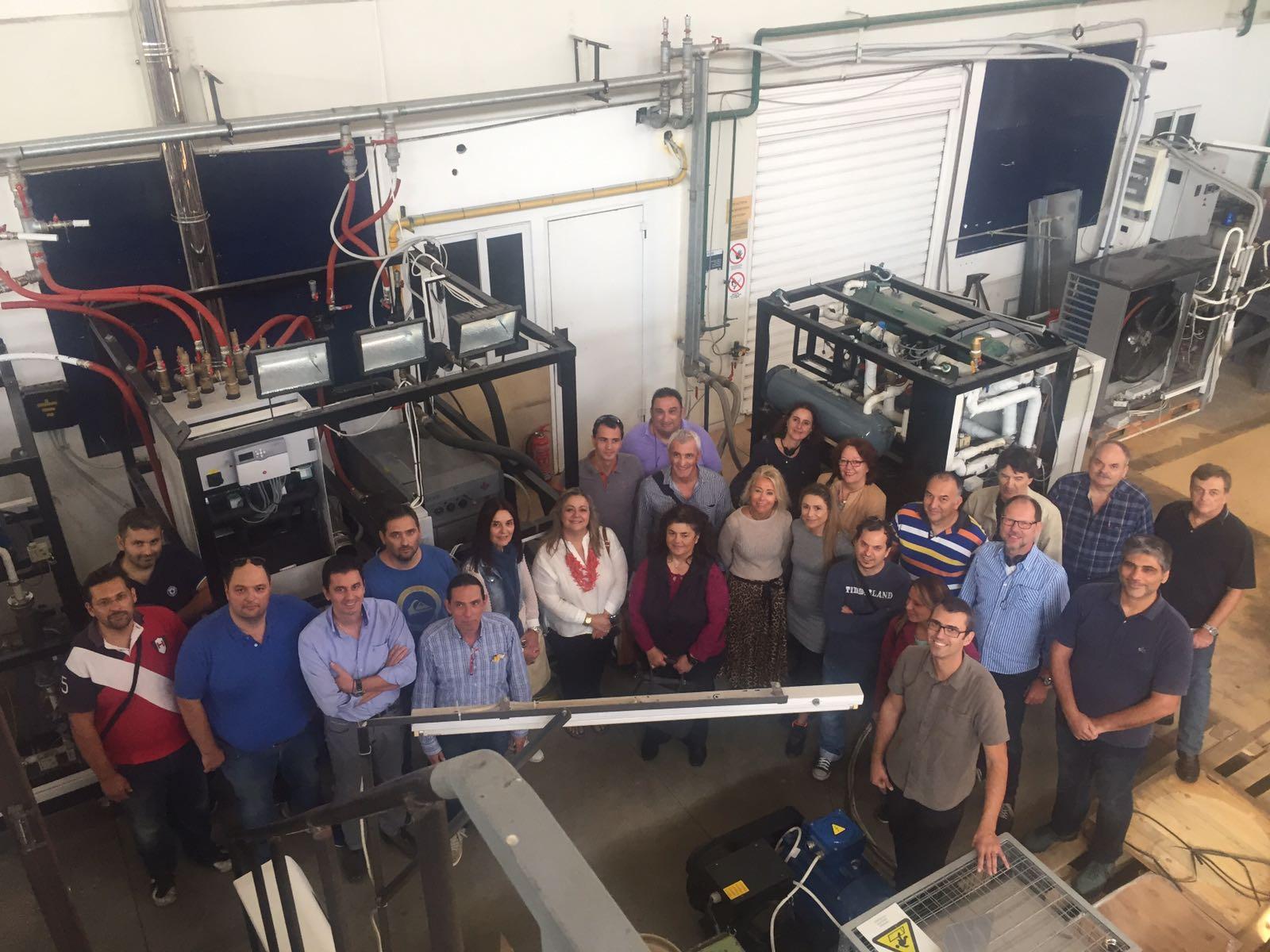 Επιτυχής ολοκλήρωση διήμερης επιμόρφωσης εκπαιδευτικών του Τομέα Μηχανολογίας των ΕΠΑΛ σε θέματα Ηλιοθερμικής ψύξης κτιρίων
