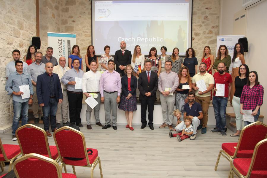 Εκδήλωση απονομής βεβαιώσεων «Energy Scouts» στην Κρήτη, στο πλαίσιο του έργου Young Energy Europe